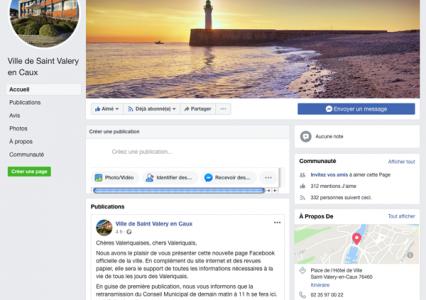 Ouverture de la page Facebook officielle
