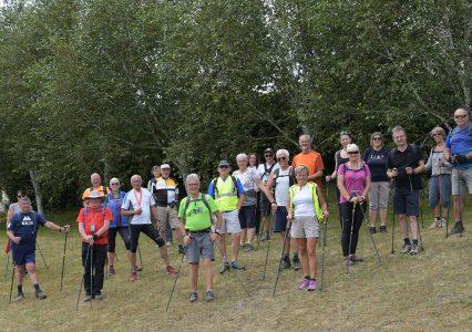 marche nordique avec les Randonneurs Valeriquais