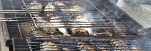 Vente de harengs grillés