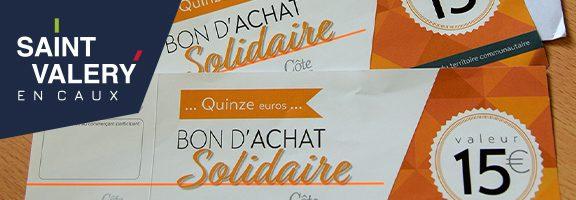 Distribution des bons d'achats solidaires